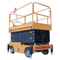 Cheap Scissor lift platform 500kg 11m movable hydraulic aerial elevated work platform for sale