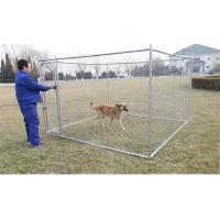 Buy cheap 6feet x 10feet x 10feet dog kennel chain link fabric dog fencing panels with optional covered roof cloth from wholesalers
