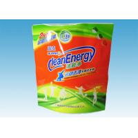 Cheap Custom Printed Stand Up Pouches , washing powder packaging bags With Three Handles for sale