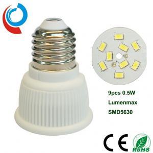 Cheap 420~440lm E27 Ceramic Light Bulb SMD 5630 LED PAR16 5 Watt With 90~250V Wide Voltage Input for sale