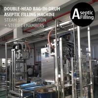 Cheap Double-head 200L Bag in Drum Fruit Puree Paste Aseptic Filling Machine for sale
