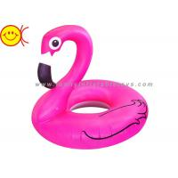 Cheap Foldable Flamingo Inflatable Water Floats With Logo / Banner Printing for sale