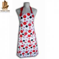 China Cotton Canvas Red And White Polka Dot Apron Custom Cooking Aprons on sale