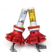 Cheap H4 H7 H8 H9 H11 9005 led headlight lamp X3 led headlight 3 color changeable offroad led headlight Bulb for sale