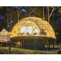 Cheap Diameter 6M Half Sphere Geodesic Dome Tent For Warehouse With PVC Fabric Cover for sale