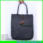 Cheap black straw handbags handmade seagrass straw tote beach bags for sale