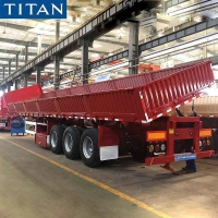 Buy cheap Side Dump Trailer Capacity 34 Ton Dropside Side Tipper for Sale from wholesalers