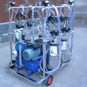 China Diesel Engine Eletric Motor Mobile Sheep Milking Machine 550 l / Min Vacuum Pump Capacity on sale