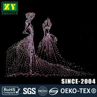 Cheap Multi - Colors Rhinestone Decals / Wear - Resistant Hotfix Patterns for sale