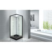 Cheap Popular Bathroom Glass Shower Cabins 800 X 800 With Square Black ABS Tray for sale