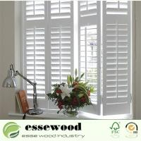 Cheap Primed PVC Plantation Window Shutter for sale