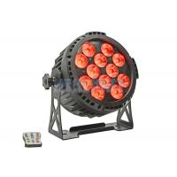 Cheap Aluminum Housing Battery Powered DMX Lights / LED Par Cans 12 X 18 W 50000hrs Long Lifespan for sale