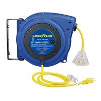 Cheap LED Lighted Connector Goodyear Retractable Air Hose Reel With Double Adjustment Function wholesale