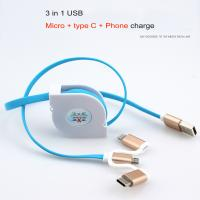 Cheap 2A Fast Charge Micro USB Cable Type - C Telescopic For Smart Android Phone for sale