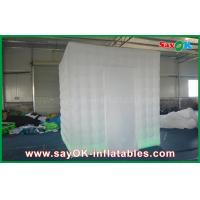 Cheap One Door Square Wedding Digital  Inflatable Open Air White Photo Booth for sale
