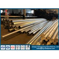 Cheap Custom Made Galvanized Light Pole / Electric Power Pole With Base Plate for sale