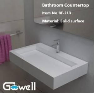 China Acrylic Solid Surface Bathroom Vanity Top on sale