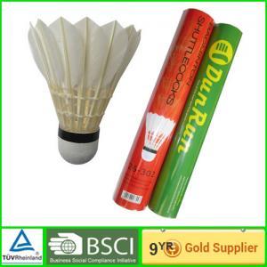 China DunRun adult goose Badminton goose feather shuttlecock Cork base on sale