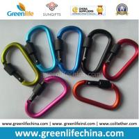 Cheap Wholesale aluminum 6cm hot carabiner new fashion carabiner w/lock snap pole for sale