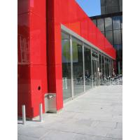 Quality Red painted custom Printed Glass Pavilliongen Edvard Griegs Plass Norway wholesale