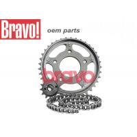 Cheap CG125 Titan Motorcycle Chain And Sprocket Sets Carbon Structural Steel Material for sale