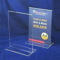 Cheap Clear acrylic menu display, comes in T shape, various sizes are available for sale