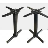 Cheap Cast Iron Cross Table bases Black wrinkle powder coated Outdoor bistro table leg for sale