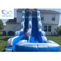 Cheap High Quality PVC Inflatable Slide Beach Water Jumping Water Slides for sale