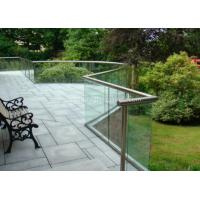 Cheap 8mm Clear Balustrade Glass Staircase Railing , Sound Insulation for sale