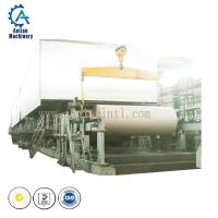 Cheap Paper factory waste paper recycling machine 1092mm Kraft Paper Machine export India for sale