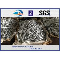 Quality M24 X 214mm Railway Sleeper track spikes or screw spikes With HDG coatings wholesale