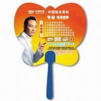 Cheap Hand Fan, Suitable for Promotional Purposes, Made of PP, Customer's Logo Printings are Available for sale