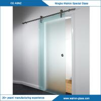 China 2050x900x8mm stainless steel glass sliding doors system on sale