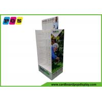 Double Sided Cardboard Store Display , Plastic Pegs Cardboard Box Display For Shovel Gloves HD069