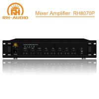China RH-AUDIO Pro Audio Amplifier with Bass and Treble for Hotel Paging System on sale