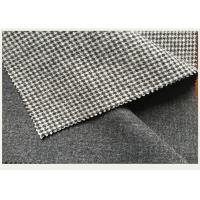 Cheap Causal Suit / Pants Houndstooth Tartan Wool Fabric Black And White 820g for sale