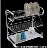 China Stainless steel kitchen dish rack 3 layer chromed wire dish racks & drainers PT-DR001 on sale