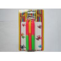 Cheap Non - Toxic Long Thin Birthday Candles , Decorated Color Changing Wax Candles for sale