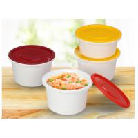 China Anti-theft round shape injection PP material soup cups thicker takeaway soup bowls with lock on sale