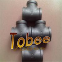 Galvanized malleable iron pipe fittings tees with