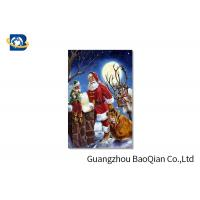 Cheap 3D Craft Lenticular Christmas Cards , Interactive Greeting CardsRegular Size for sale