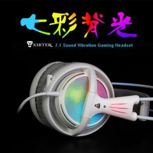 Cheap XIBTER Professional Gaming Headset 7.1 Surround Sound Emitting Vibration Function USB Headband Headphone For PC Netbook wholesale