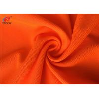 China Flame Retardant Fluorescent Material Fabric , Weft Knitted Polyester Fabric For Uniform on sale