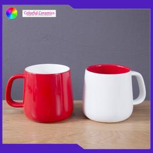 China Lead Free Glazed Ceramic Coffee Mugs Microwave Safe Large Capacity Customized Logo on sale