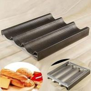 Teflon coated baguette trays