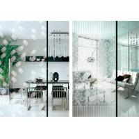 Cheap Custom Painting Flat 5mm Acid Etched Glass for Wardrobe / Kitchen Cabinet Door Glass for sale
