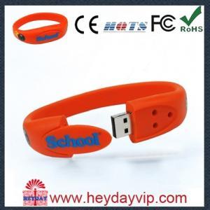 China Decorative colorful Silicone Wristband buy usb sticks 4GB / 8GB / 16GB on sale