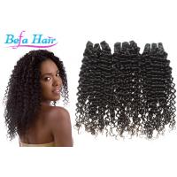 Cheap Natural Black Tangle Free Mongolian Curly Hair Extensions Grade 7A Virgin Hair for sale
