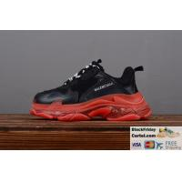 China 2019SS BALENCIAGA TRIPLE S VINTAGE DADDY SHOES RED & BLACK VINTAGE SNEAKER on sale