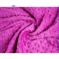 Cheap Professional Warm Minky Dot Fabric Flame Retardant Customized Width for sale
